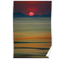 Beach of the Setting Sun Poster