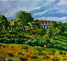 """Glimpsed by Memory, Cottage in Landscape, County Antrim"" by Laura Butler"