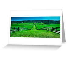The Road to Saratoga Greeting Card