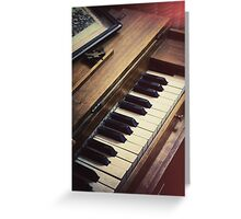 retro piano Greeting Card