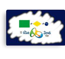Olympics in Rio 2016, here we are (sfumato) Canvas Print