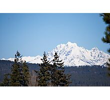 Eastern Washington Snow Obstacles  Photographic Print