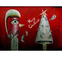 Pinguino de la Navidad Photographic Print