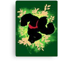 Super Smash Bros. Green Donkey Kong Silhouette Canvas Print