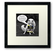 Have you read this yet Dad? Framed Print
