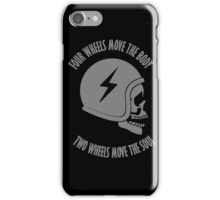 Two wheels move the soul skull iPhone Case/Skin