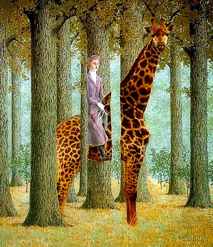 Giraffe In Forest by SuddenJim