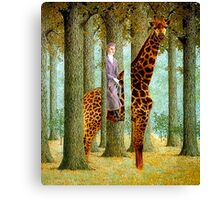 Giraffe In Forest Canvas Print