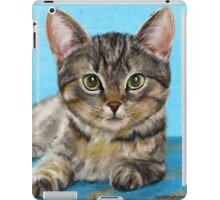 Digitally Painted Portrait of a Cute Little Furry Kitten  iPad Case/Skin