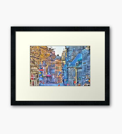 Old Montreal Architecture Framed Print