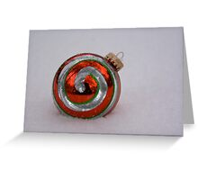 Red Ornament in Snow Greeting Card