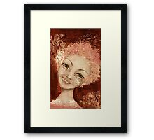 Laughter in her eyes Framed Print
