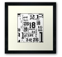 Numbers Are Fun Framed Print