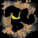 Super Smash Bros. Black Donkey Kong Silhouette by jewlecho