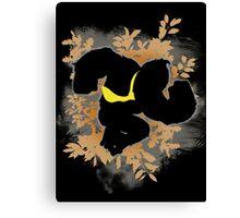 Super Smash Bros. Black Donkey Kong Silhouette Canvas Print