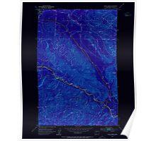USGS Topo Map Washington State WA Eagle Gorge 240916 1953 24000 Inverted Poster