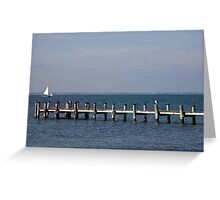 Old Pier, Pilings and Boardwalk Greeting Card