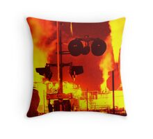 Railroad To Hell Throw Pillow