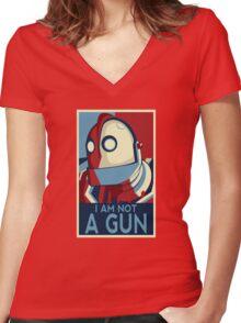 I am not a gun Women's Fitted V-Neck T-Shirt