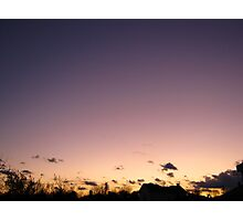 Cold Winter Sky  Photographic Print