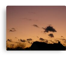 Cold Winter Sky 2 Canvas Print