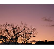 Cold Winter Sky 8 Photographic Print