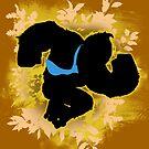 Super Smash Bros. Yellow/Gold Donkey Kong Silhouette by jewlecho