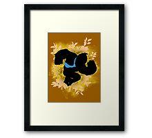 Super Smash Bros. Yellow/Gold Donkey Kong Silhouette Framed Print