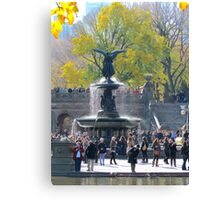Angel in Central Park, New York City  Canvas Print