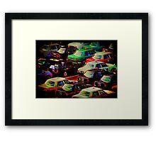 Kyoto Taxi Lot Framed Print