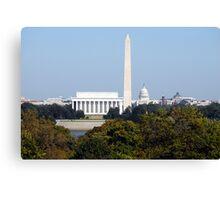 Washington Monuments Canvas Print
