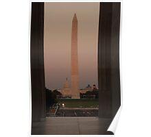 Washington Monument & Capitol Building at Dusk Poster