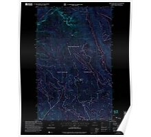 USGS Topo Map Washington State WA Sweetgrass Butte 244147 2002 24000 Inverted Poster