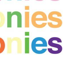 Ponies & Sticker