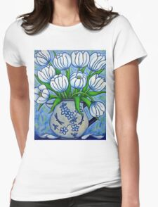 Tulip Tranquility Womens Fitted T-Shirt