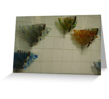 dancing colours on the wall Greeting Card