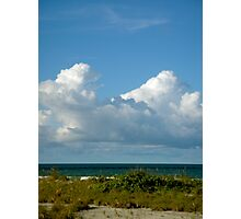Where Azure Sky Meets Silky Sand, Heaven Feels Closer At Hand... Photographic Print