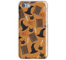 Just a Bunch of Hocus Pocus (Orange) iPhone Case/Skin