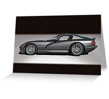 2000 Dodge Viper GTS Greeting Card