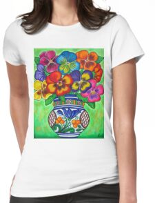 Pansy Parade Womens Fitted T-Shirt