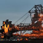 Kooragang Coal Stacker Reclaimer by Night by Phil Woodman