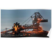 Kooragang Coal Stacker Reclaimer by Night Poster
