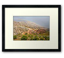 Double Rainbow at Split Mountain 2 Framed Print