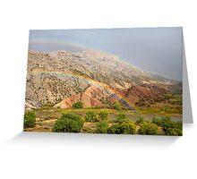 Double Rainbow at Split Mountain 2 Greeting Card