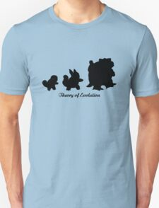 Darwin - Theory Evolution - Squirtle - pokemon T-Shirt