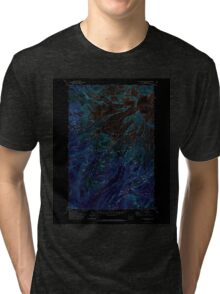 USGS Topo Map Washington State WA Mt Rainier West 242658 1971 24000 Inverted Tri-blend T-Shirt