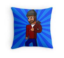 Manny the Sad Lumberjack Throw Pillow