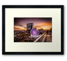 Birmingham Wheel at Christmas Framed Print