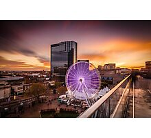 Birmingham Wheel at Christmas Photographic Print