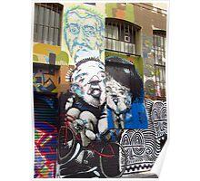 Melbourne - Various street artists in Hosier Lane Poster